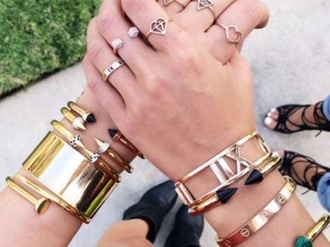 jewels ring the bling ring rings and tings gold ring silver ring bracelets set bracelets gold bracelets friendship bracelet best friends bracelet silver bracelets bracelet gold cartier love simple shoes stacked bracelets jewelry gold gold bracelet