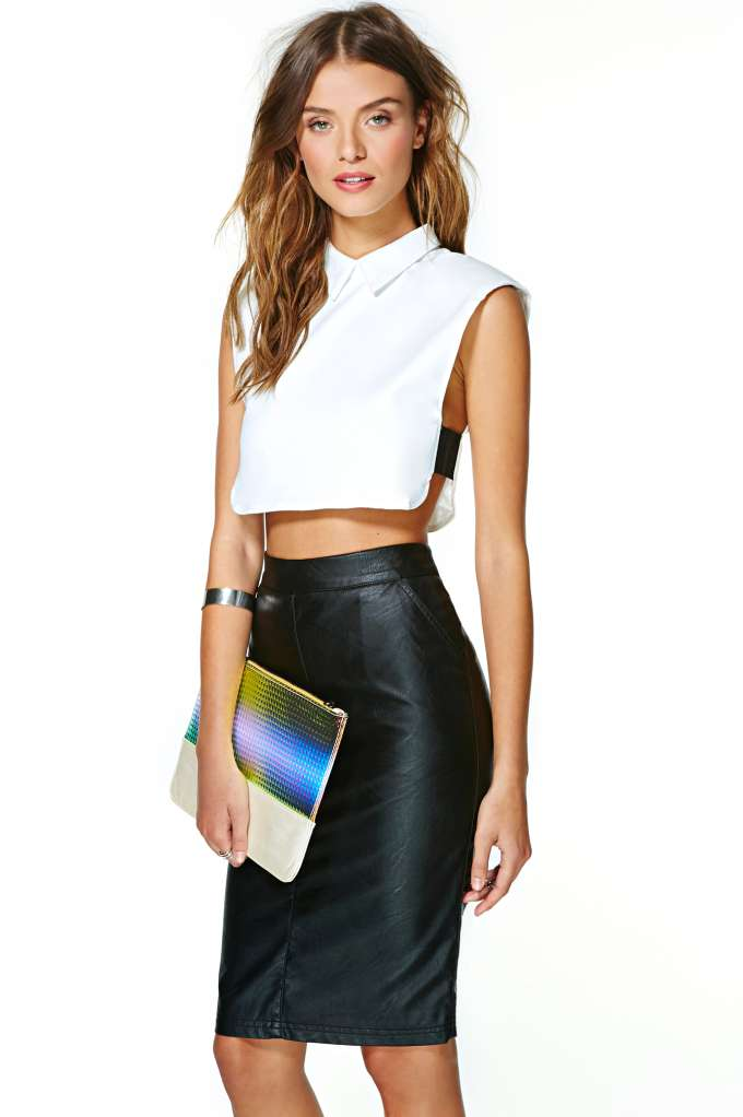 Spaces Crop Top in  What's New at Nasty Gal