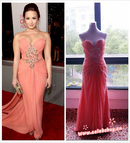 Aliexpress.com : buy demi lovato strapless prom dress 2012 peoples choice awards from reliable dress wrap suppliers on celebsbuy cn clothing fashion company
