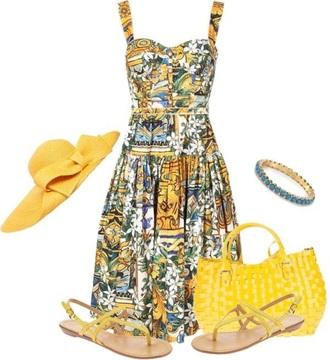 dress yellow floral sun dress