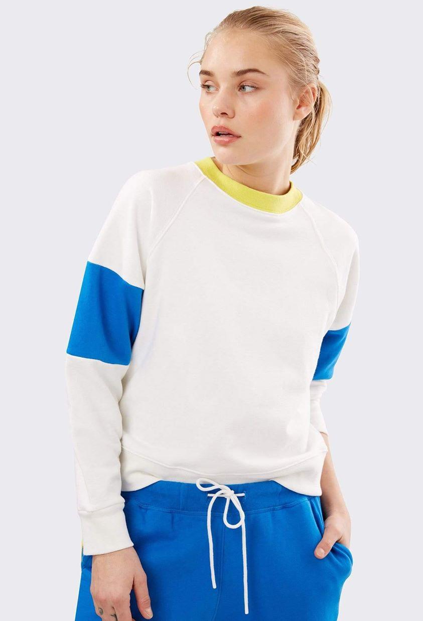 Madison Sweatshirt - Off White/ Rugby Multi