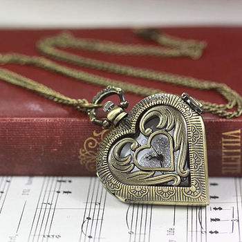 angel heart watch necklace by lisa angel | notonthehighstreet.com