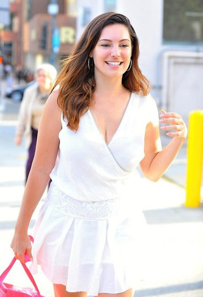 kelly brook white dress