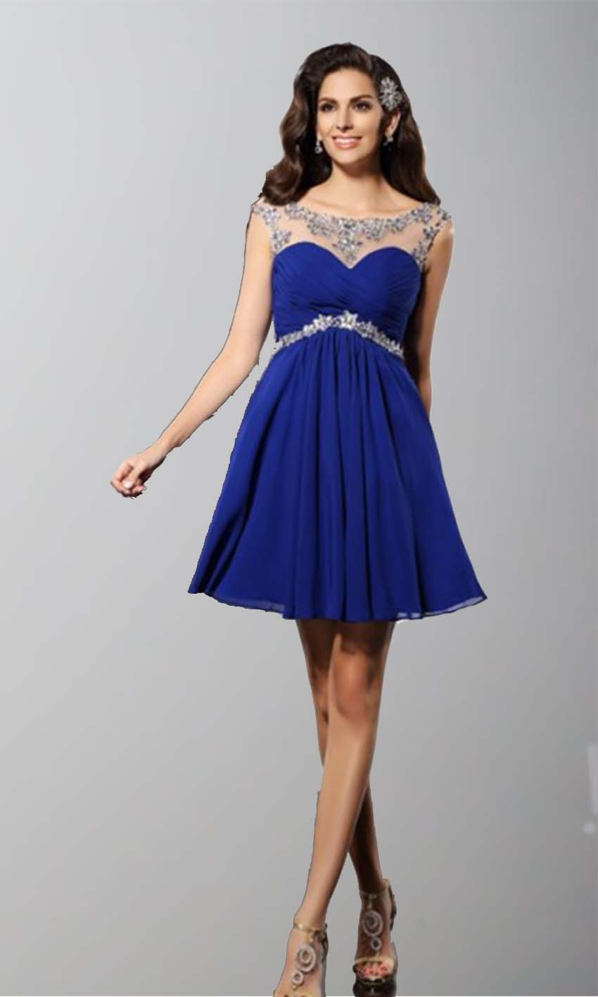 Blue Illusion Short Lace Prom Dresses UK KSP347 [KSP347] - £87.00 ...
