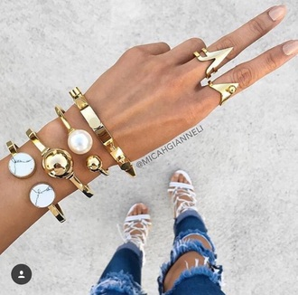jewels ring rings and tings jewelry gold silver accessories accessory clothes style style scrapbook fashion watch bracelets pearl jeans heels gold jewelry gold bracelet stacked bracelets micah gianneli
