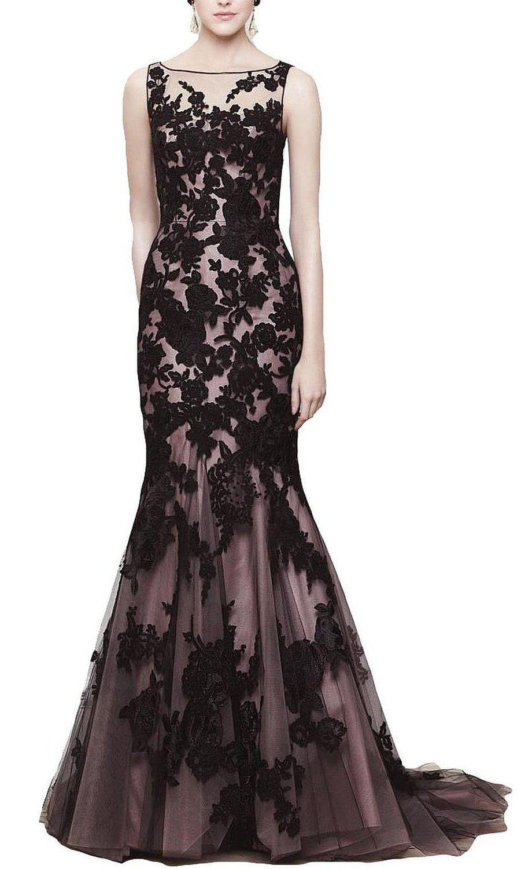 Babyonline Black Lace Mermaid Evening Dresses 2015 Prom ... - photo #41