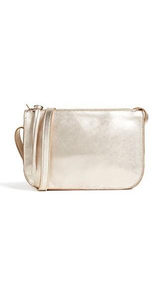 cross bag pouch gold