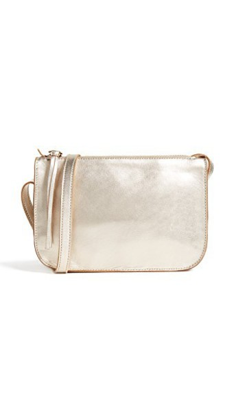 Madewell cross bag pouch gold