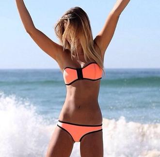 swimwear neon summer tan
