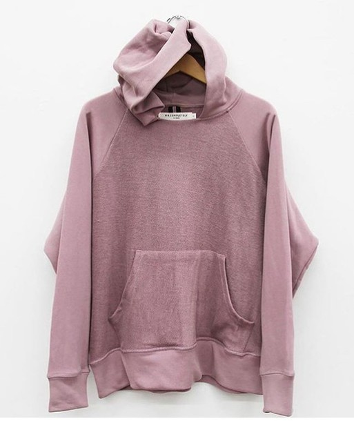 Shirt sweater hoodie oversized sweater oversized cozy faded pink purple style ...