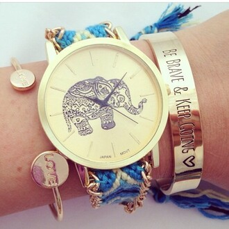 jewels hippie elephant bracelet boho chic indie vintage
