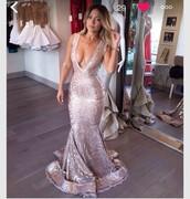 dress,mermaid,long dress,prom,prom dress,champagne colour,pretty,giry,fashion