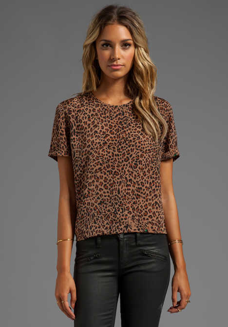 LOVERS   FRIENDS Perfection Tee in Leopard - Lovers   Friends