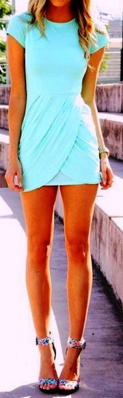dress summer dress summer spring fashion summer fashion light blue blue teal spring dress