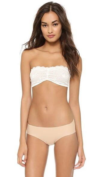 bra bandeau bra lace white underwear