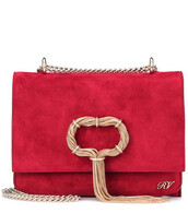 clutch,suede,red,bag