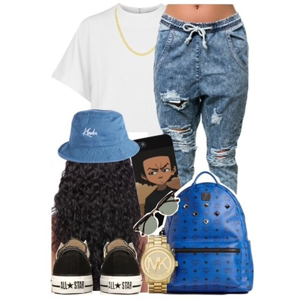 bucket hat jeans acid wash all star michael kors boondocks ripped jeans mcm jeans