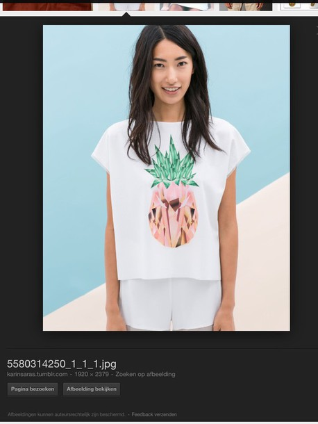 shirt white short with a diamand pineapple
