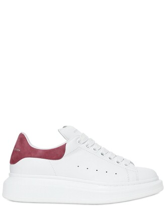 suede sneakers sneakers leather suede white pink shoes