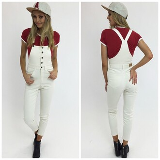 jumpsuit overalls long overalls denim overalls peppermayo white denim white overalls white denim overalls button front button front overalls afends