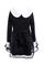 Overlay lace black puff shift dress [ncske0211]