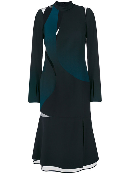 VERSACE dress women black silk