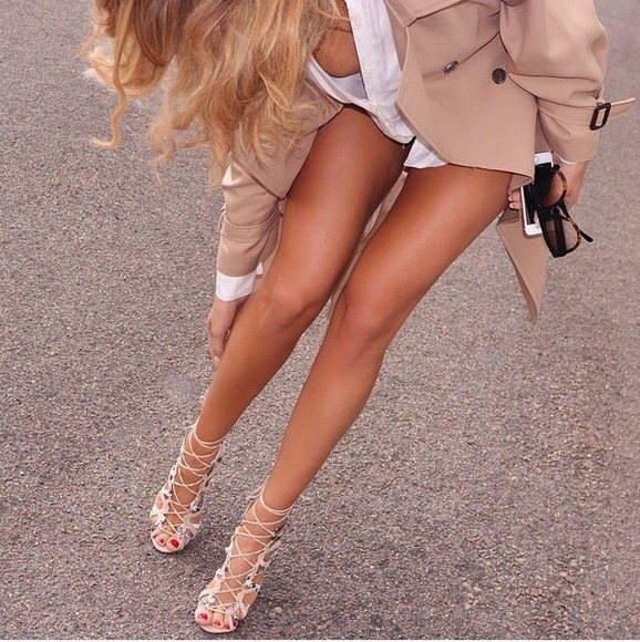 high heels blonde