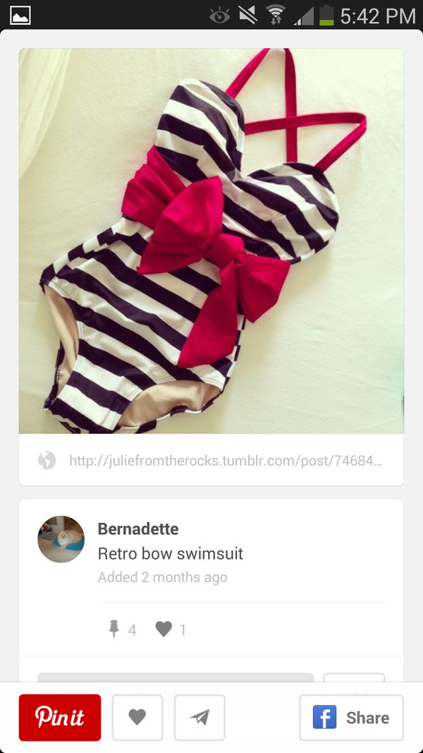swimwear black white red bows one piece swimsuit
