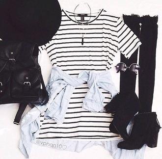 dress black white b&w shirtdress stripes