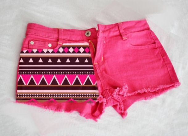 shorts pink denim tribal pattern tribal short tribal shorts brown clothes girl's clothes girls summer cute zick zack cool pink shorts girly aztec tribal pattern cut off shorts aztexprint shorts aztec pink pink aztec black and white pattern love pink print aztec pink demin hot pink hot pink shorts with tribal
