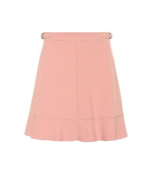 REDValentino Flared cady miniskirt in pink