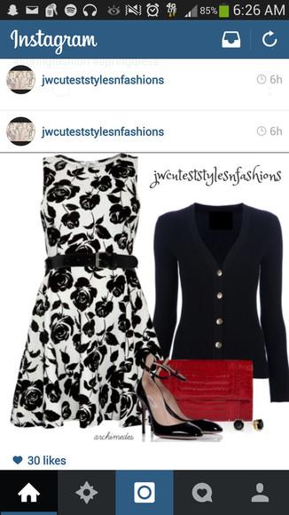 floral dress black
