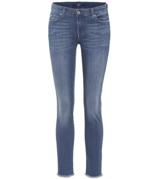 7 For All Mankind jeans cropped jeans cropped blue