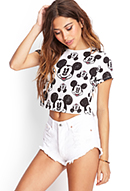 Smiling Mickey Print Tee   FOREVER21 - 2000121384