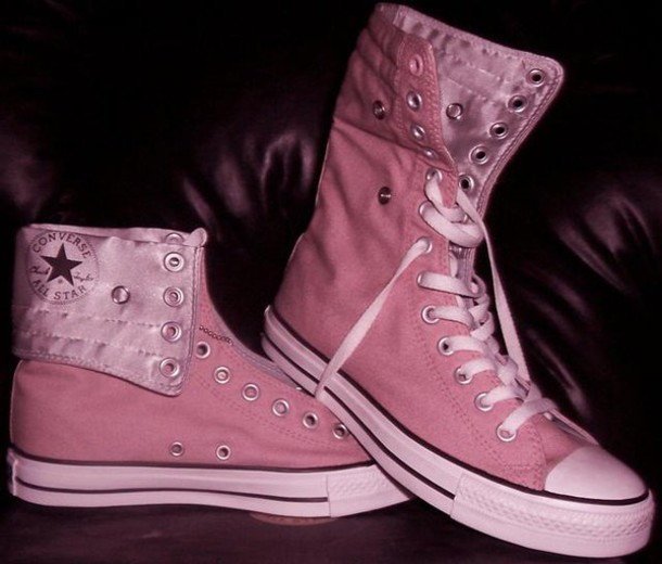 aabe9849cc8659 shoes boots girl cool style converse cute fashion pink black girly shoes  trendy old school korean
