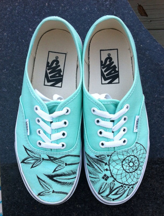 Dream catcher vans by vuvudesigns on etsy