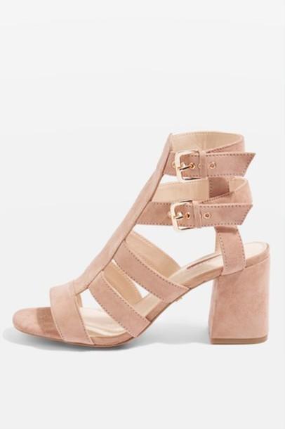 Topshop heel mid heel sandals sandals nude shoes