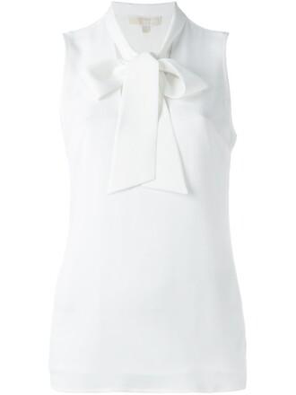 top bow top bow women white silk