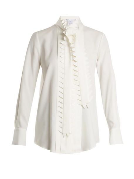 oscar de la renta blouse silk top