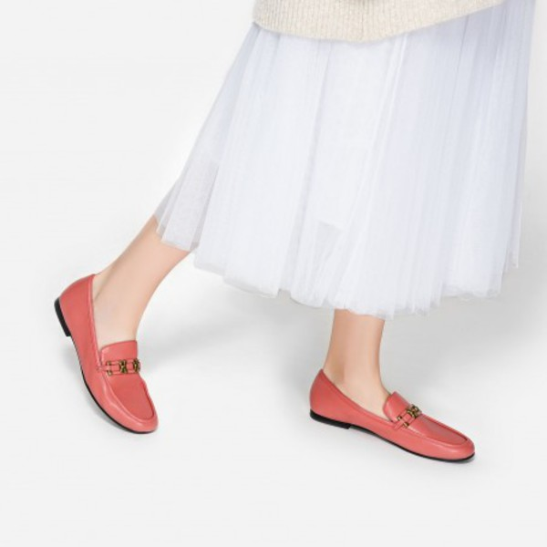 shoes charles and keith pink shoes pink millennial pink loafers