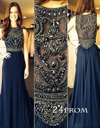 dress amazing dress prom dress long prom dress dark blue dress beaded dress stunning dress stunning prom dress