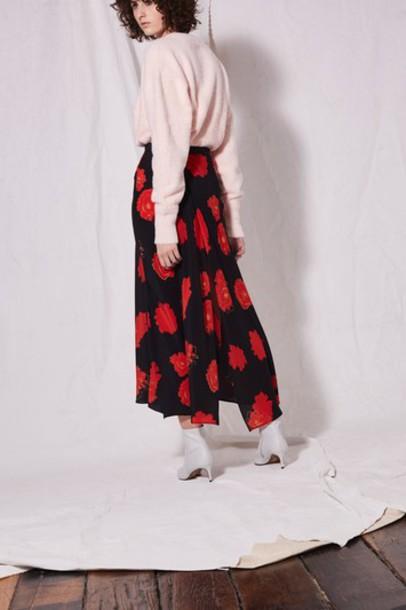 Topshop skirt midi skirt midi black