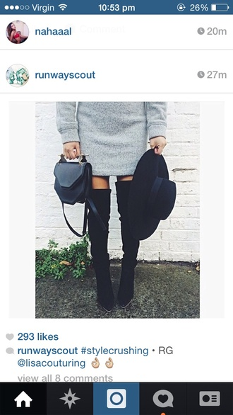 hat black hat winter outfits style felt shoes sweater felt hat