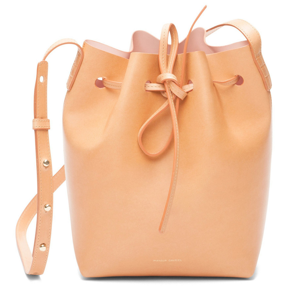 Mansur Gavriel Cammello Mini Bucket Bag - Rosa