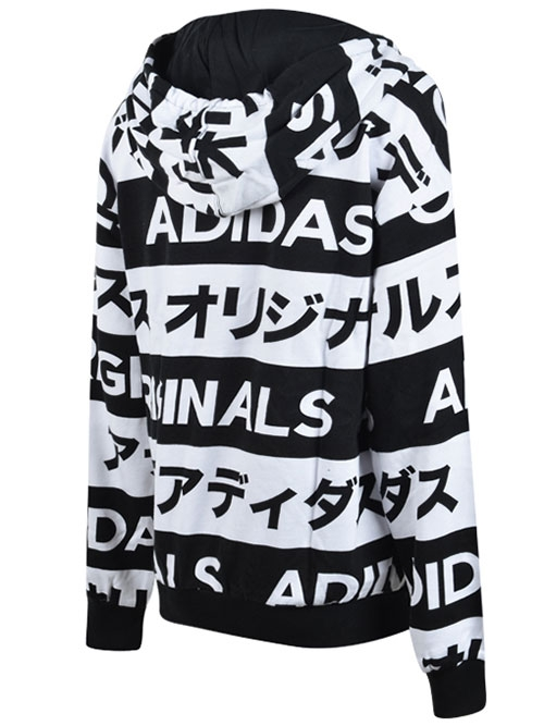 Japan typo aop hoodie black / white selected sneakers & streetwear