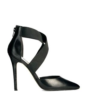 Dune | Zapatos de salón de punta con tiras en negro Demie de Dune en ASOS