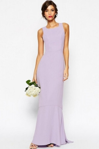 dress maxi purple fishtail wots-hot-right-now maxi dress