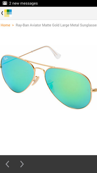 sunglasses rayban raybans ray ban ray bans gold aviator sunglasses aviators turquoise colored lens gold frame