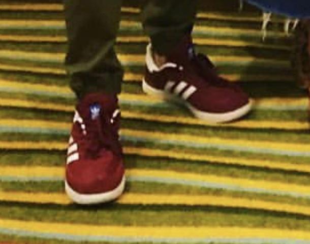 shoes maroon/white adidas