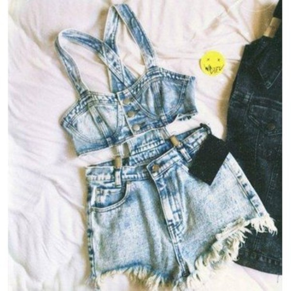 jeans romper denim crop romper
